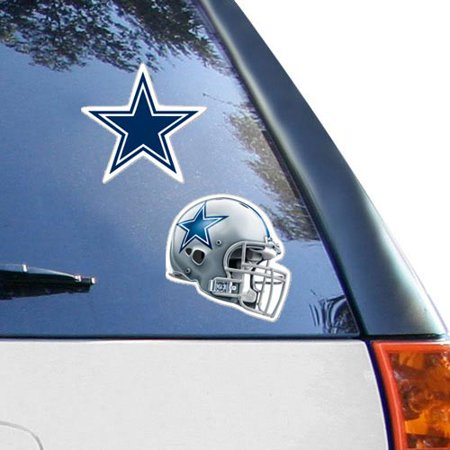 Dallas Cowboys 2-Pack 4'' x 4'' Die-Cut Decals - Dallas Cowboys Gifts