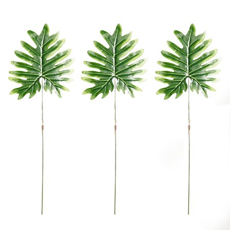 3 Pcs Tropical Palm Leaves Simulation Leaf for Theme Party Decorations Hawaiian Luau Party Jungle Beach](Jungle Leaves Decorations)