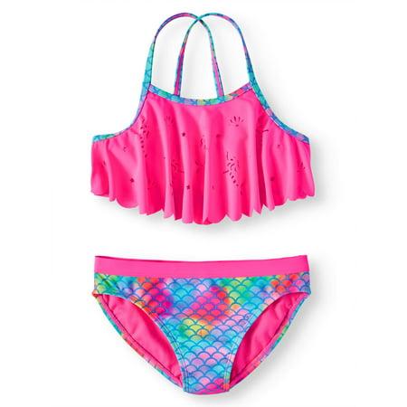 Mermaid Flounce Bikini Swimsuit (Little Girls & Big Girls) (American Girl Bikini)