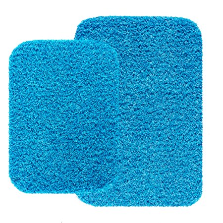Mainstays 2 Piece Bath Rug Set Aqua Blue - Walmart.com