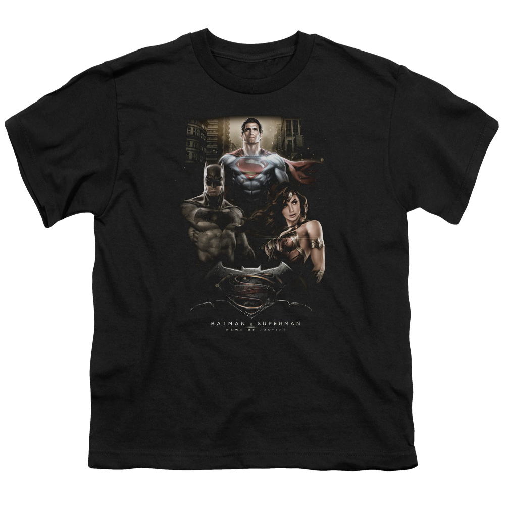 Batman Vs Superman Three Big Boys Short Sleeve Shirt