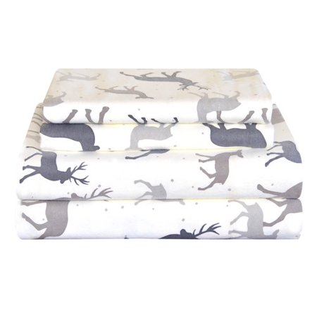 Pointehaven Autumn Deer Cotton Sheet Set
