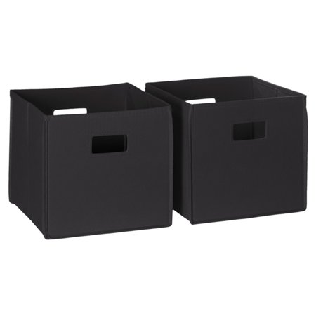 2pc Folding Storage Bin Set Black - RiverRidge