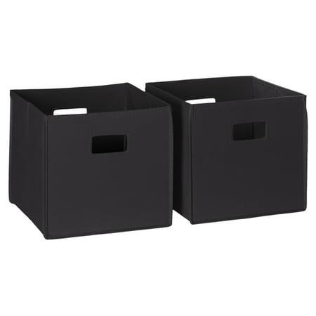 RiverRidge 2 Pc Folding Storage Bin Set - Black