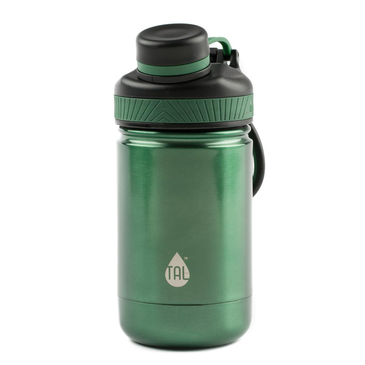 Tal Stainless Steel 12 Ounce Green Double Wall Vacuum Insulated Ranger Pro Water Bottle