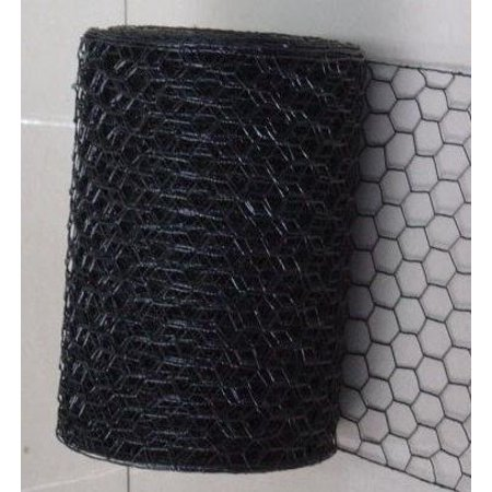 "allFENZ PVC Hex Netting 1"" 20Ga 24""W x150 ft BLACK"