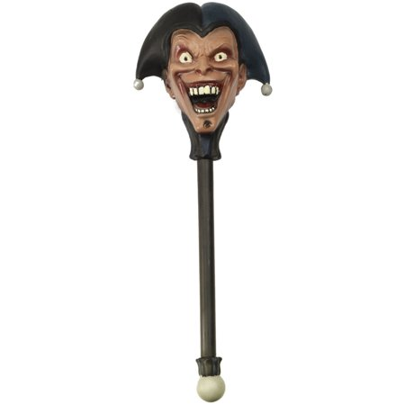 Adult's Twisted Attraction Scary Clown Jester Staff Scepter Costume Accessory