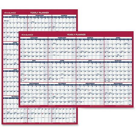 At A Glance Reversible Yearly Wall Calendar