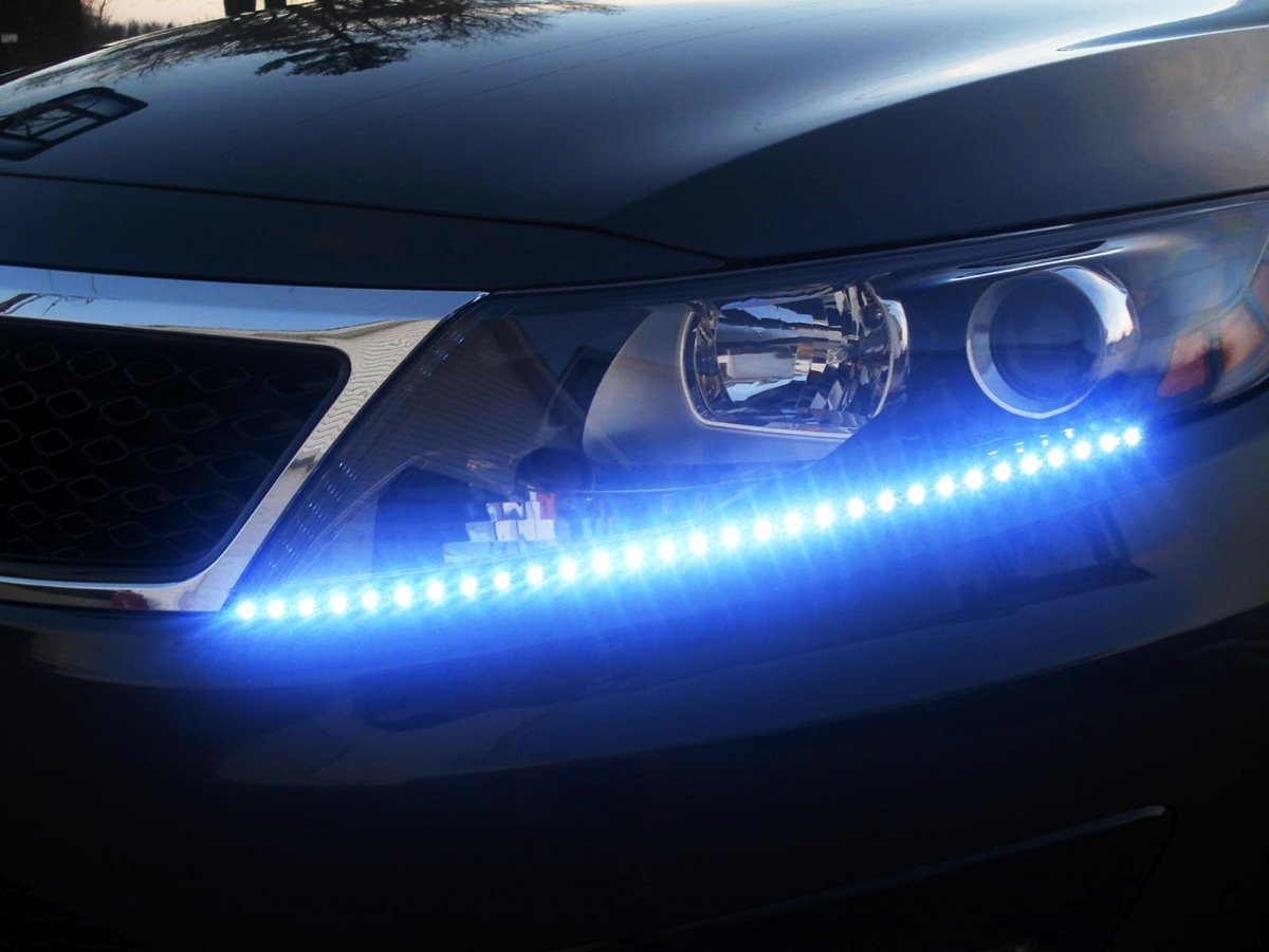 Zone tech 30cm led car flexible waterproof light strip blue pack of zone tech 30cm led car flexible waterproof light strip blue pack of 4 walmart aloadofball Images