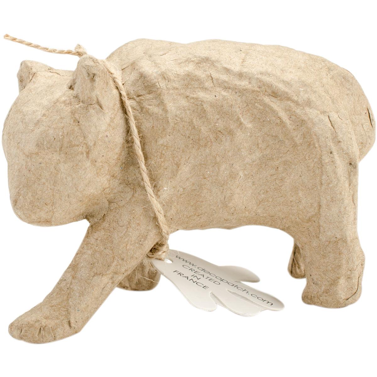 """Paper-Mache Figurine 4.5""""-Bear"""