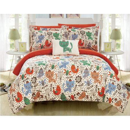 Chic Animal (Chic Home Tiggy 6 Piece Reversible Comforter Set Animal Youth Design )