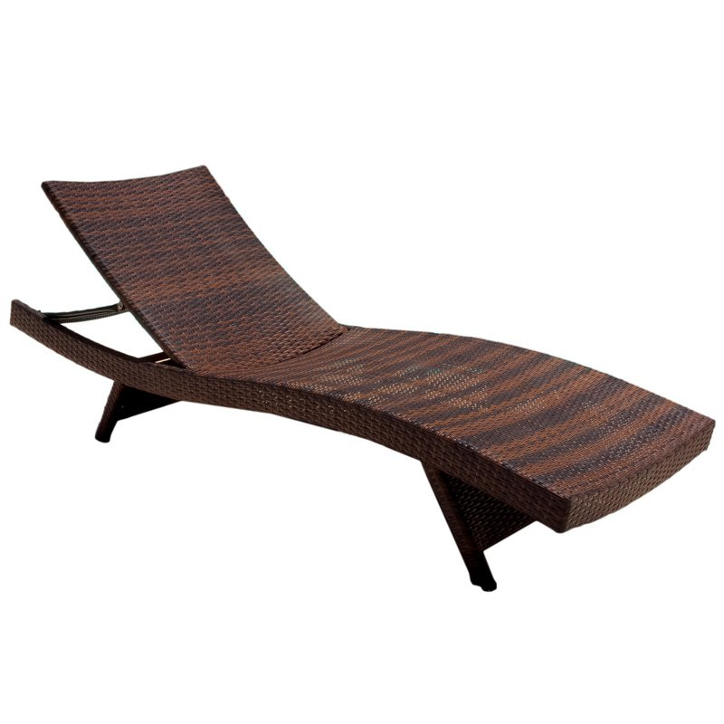 Waveland All Weather Wicker Adjustable Chaise Lounge   Walmart.com Part 21