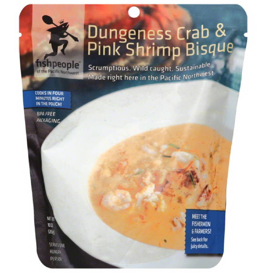 Fishpeople Dungeness Crab and Pink Shrimp Bisque, 10 oz, (Pack of 12) by