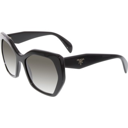 Prada Women's Gradient PR16RS-1AB0A7-56 Black Round (Prada Sunglasses)