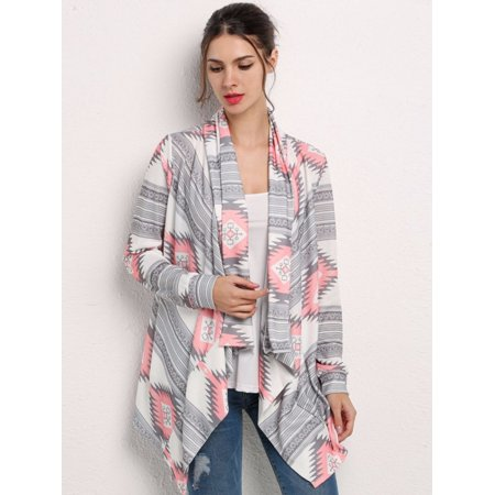 f394b89abcd Topcobe - Black Friday Clearance! Print Drape Open Front Cardigan ...