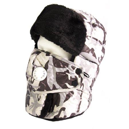 46fbdaa4d71c9 Sakkas - Sakkas Alex Unisex Ushanka Faux Fur Windproof Trapper Aviator Hat  Removable Mask - 18217-Camo-2 - One Size Regular - Walmart.com
