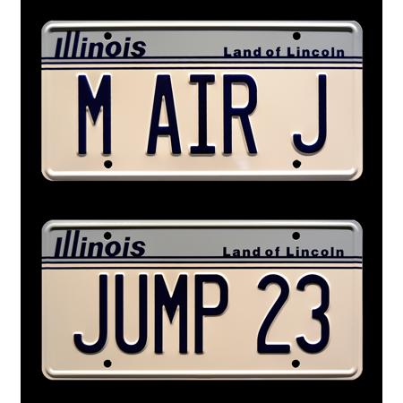 Air Jordan 23 Air - Air Jordan | M AIR J + JUMP 23 | Metal Stamped Vanity License Plate Combo