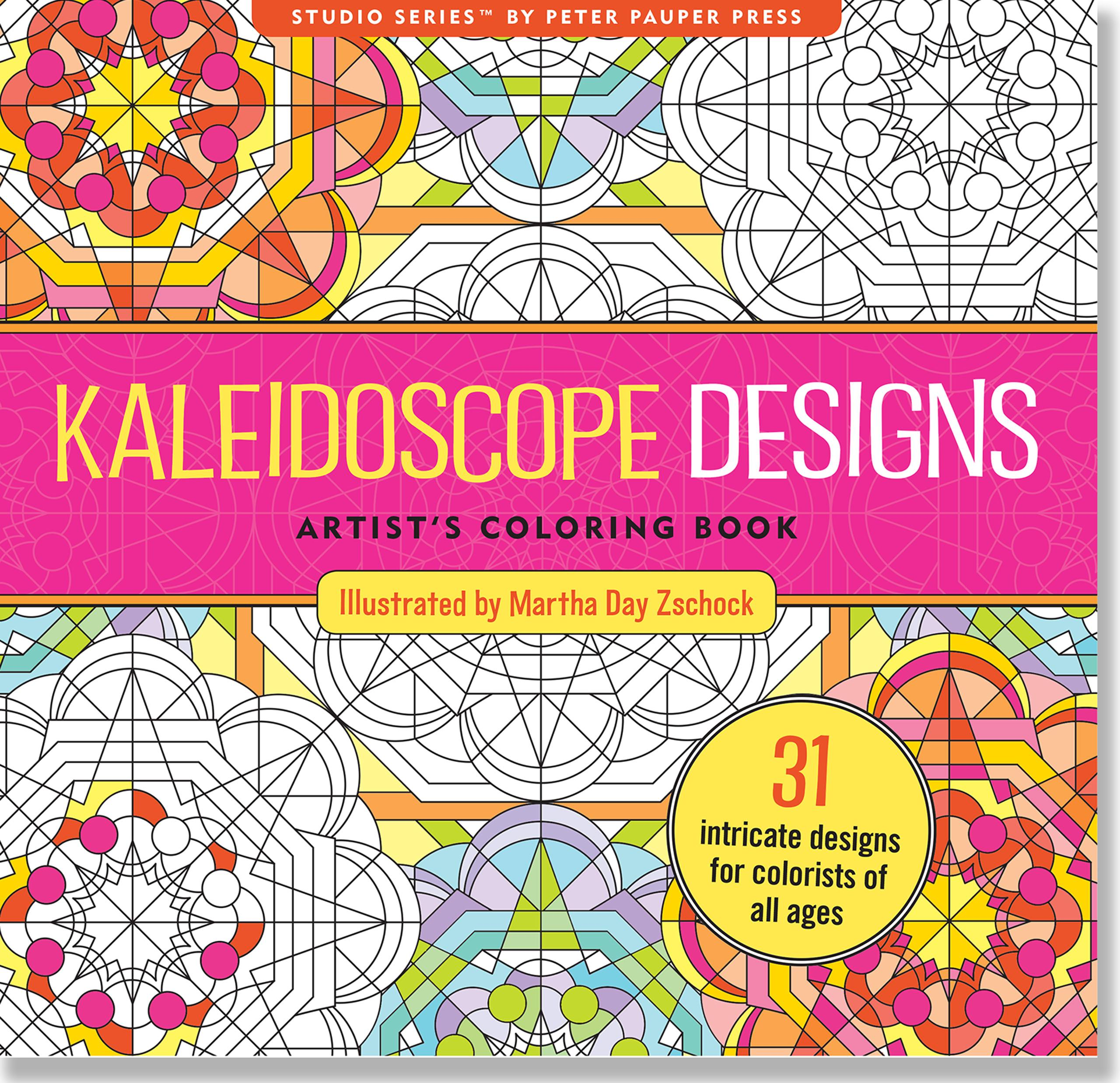 Kaleidoscope Designs Artist's Coloring Book (31 Stress-Relieving Designs) (Paperback)