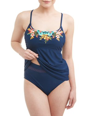 fad5ee9fdb35d Blue Time and Tru Womens Swimwear - Walmart.com