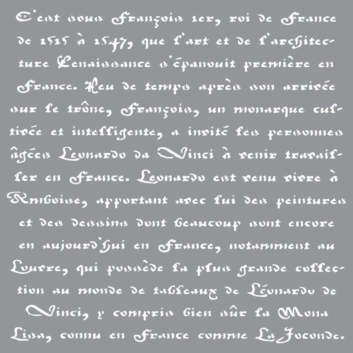 "Americana Decor Stencil 12""X12""-Old French Script"