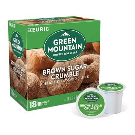 Green Mountain Coffee Roasters Brown Sugar Crumble, 1 Serve Coffee K-Cup Pod, Flavored Coffee, 18