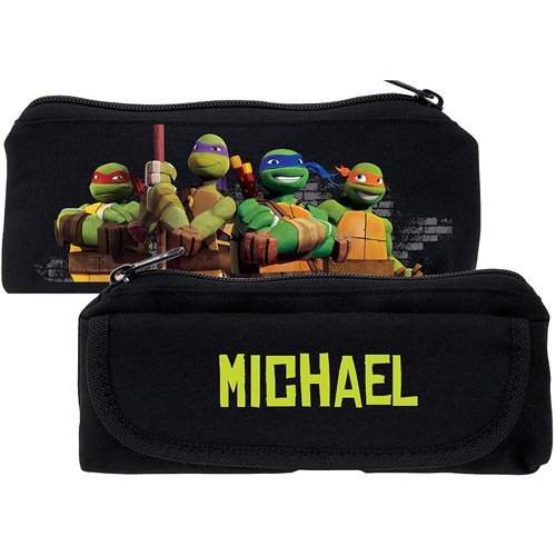 Personalized Teenage Mutant Ninja Turtles Protect Black Pencil Case