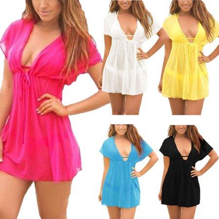 Black Sarong Cover Up - Ladies Beach dress Cover up Kaftan Sarong Summerwear Swimwear Bikini Summer