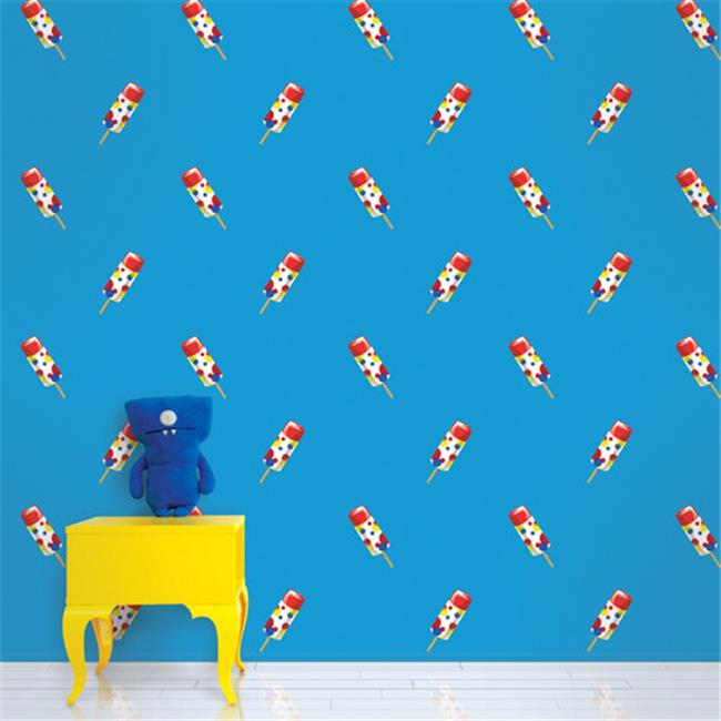 Wallcandy Arts ppb01wp Push Pops Blue Wallpaper Full Kit