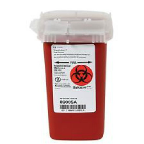 Coviden Sharps Container w/Lid, Phlebotomy, 1qt