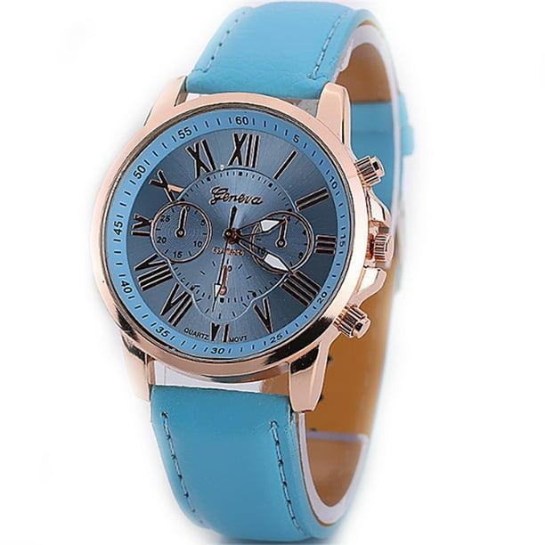 Stylish Women Quartz Watches PU Leather Casual Wristwatch for Ladies Lady Watches Elegance Wristwatches