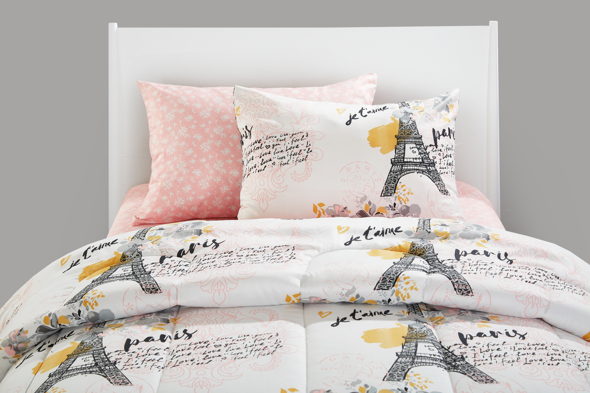Your Zone Teen Paris Eiffel Tower Bed in a Bag Bedding Set w ...