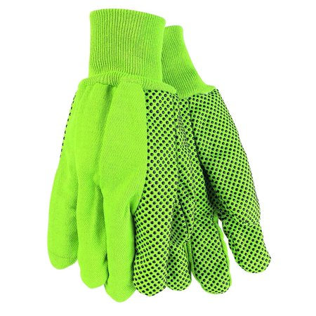 9018DG Cotton Dotted Double Palm High Visibility Men