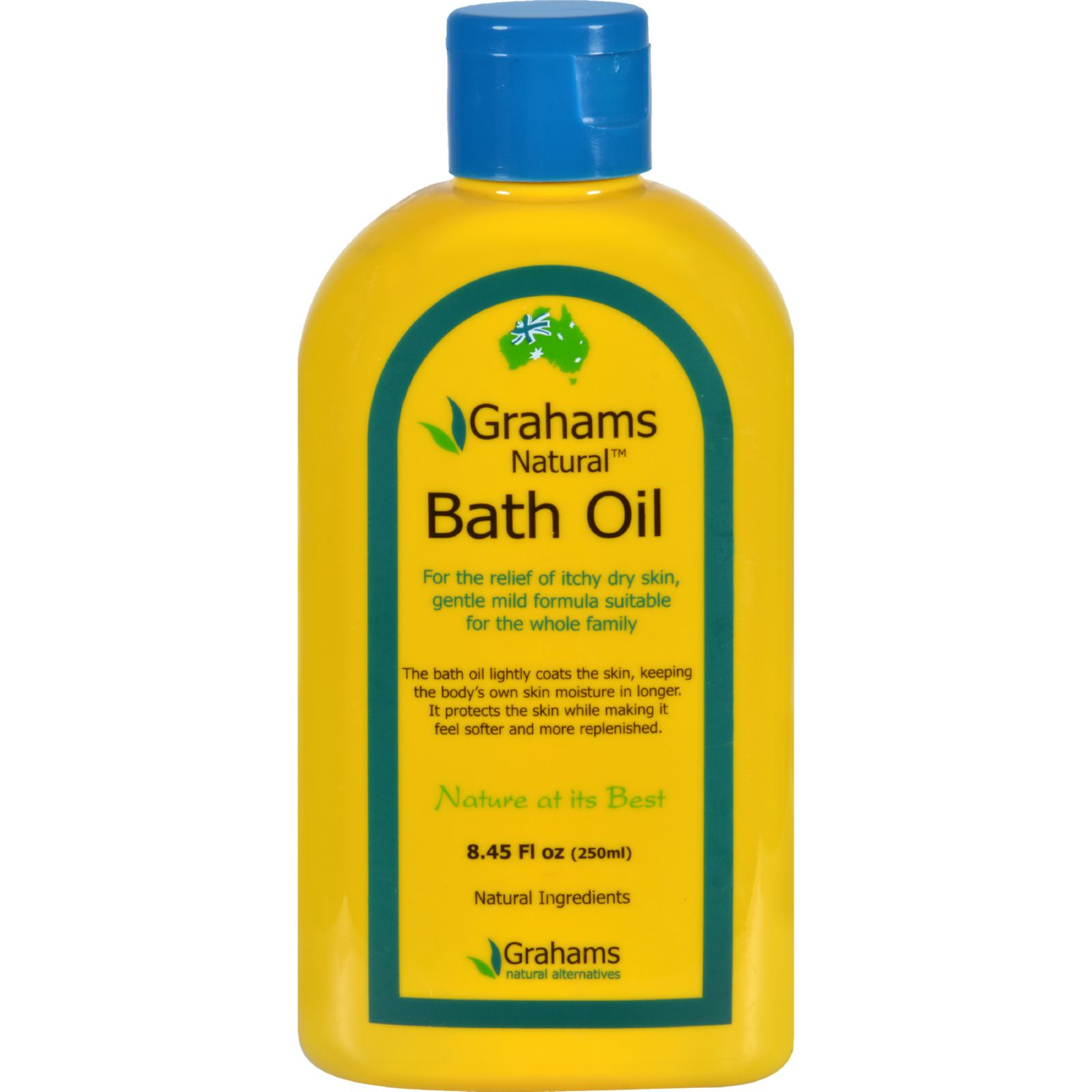 Grahams Natural Bath Oil - Dry Itchy Skin - 8.45 oz