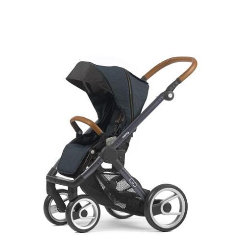 Mutsy Evo Industrial Edition Stroller - blue with dark gr...