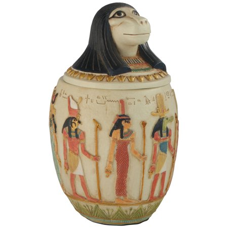 Large Canopic Jar of Hapi, Egyptian Statue, 8.5 Inches