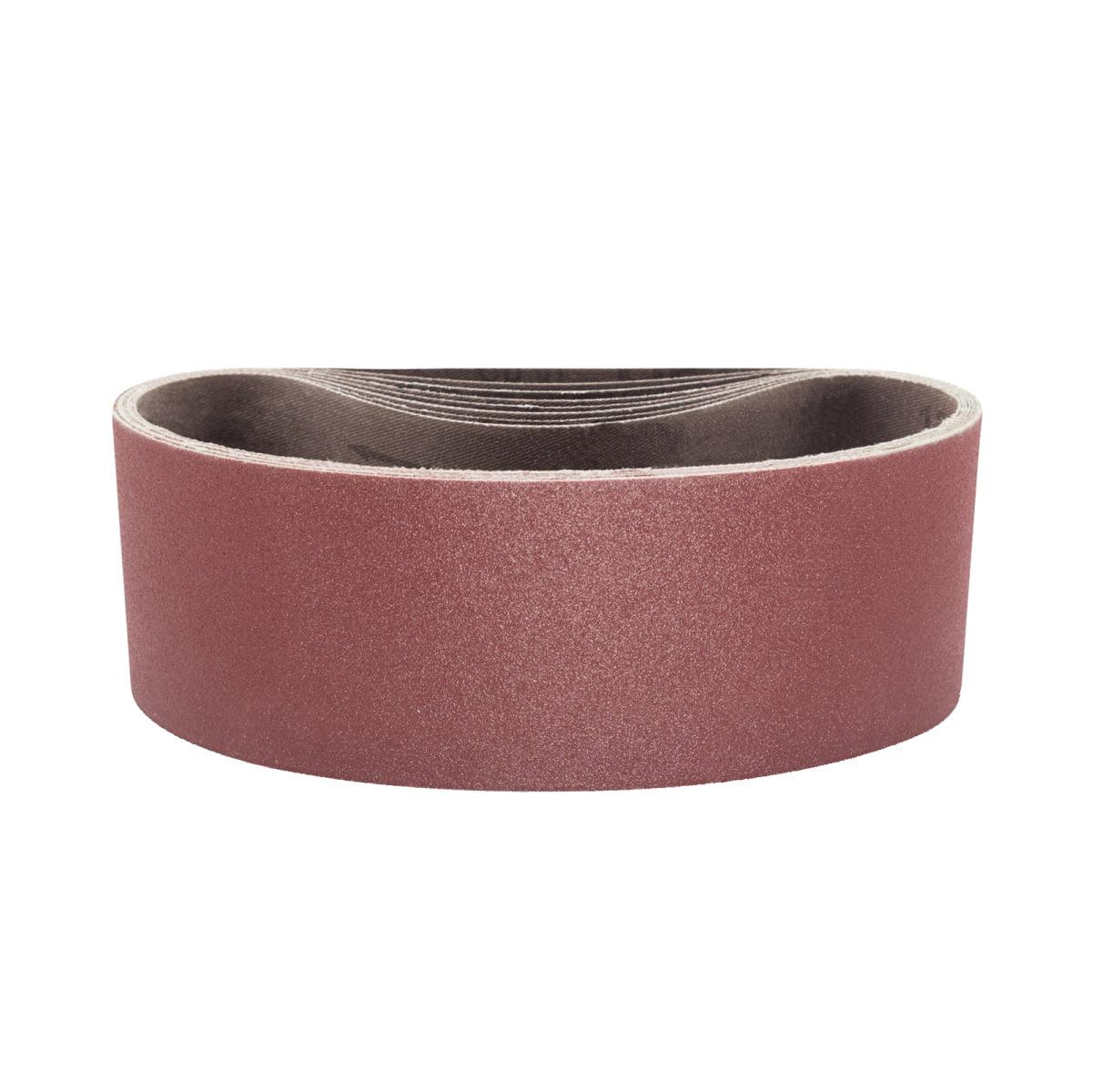 Powertec 3x21 in 120 Grit Aluminum Oxide Sanding Sandpaper Belt 10 Sander Belts