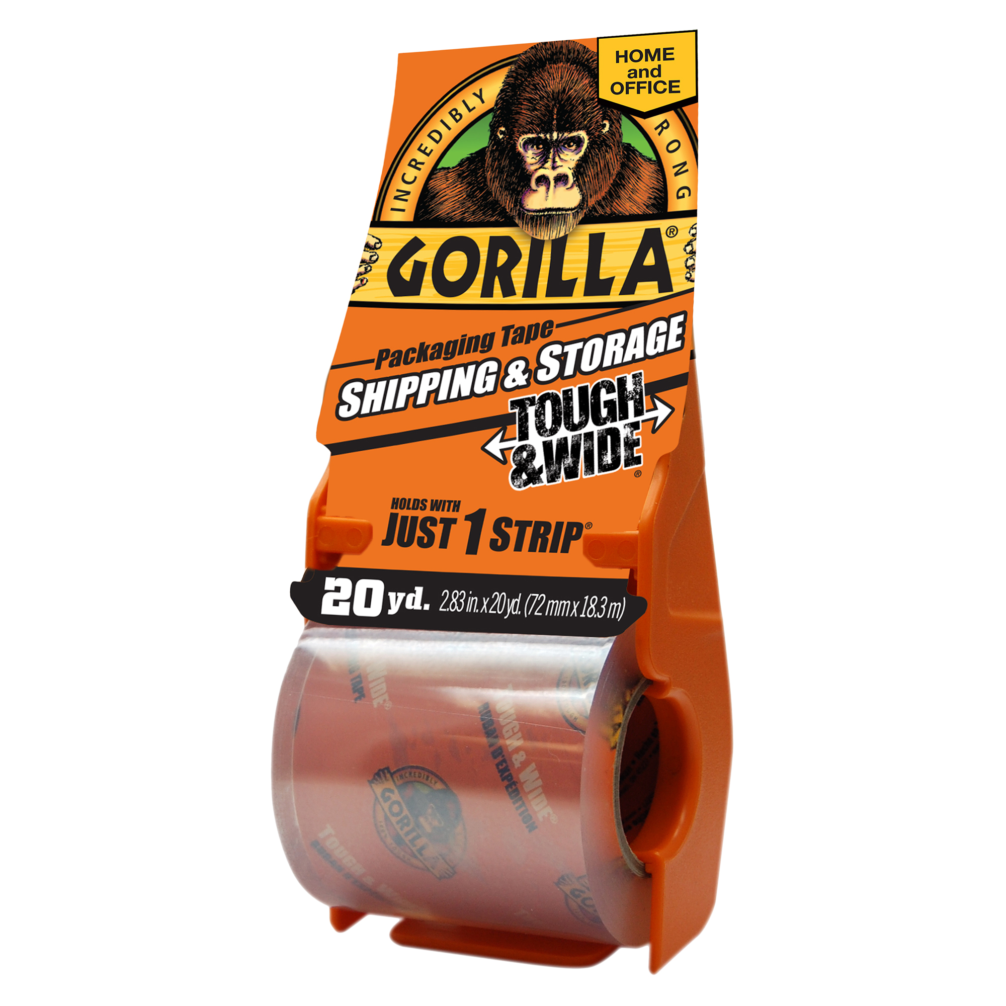 Gorilla Heavy Duty Packaging Tape Tough & Wide, 20yd