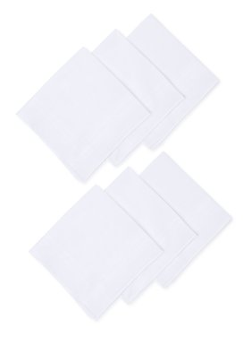 George Cotton Handkerchief, 6 Pack