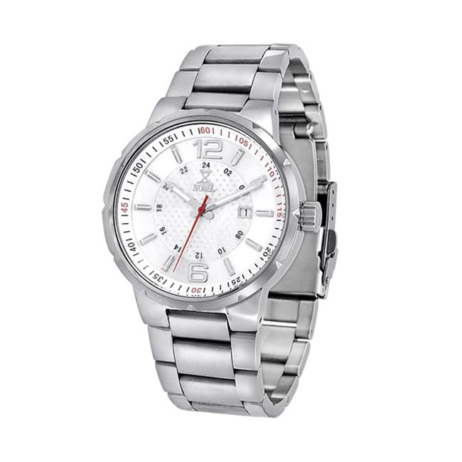NobelWatchCo EZ 625 GW Silver-Red Stainless Watch