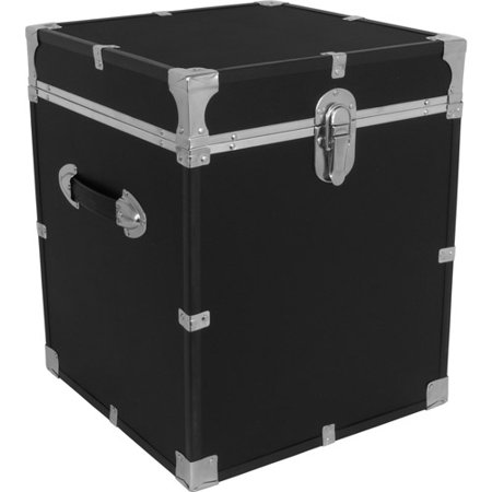 Seward Collegiate Cube Collection Storage Footlocker Trunk 19 75 Black