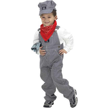 Train Engineer Boys Child Halloween Costume, One Size, 2T-3T](Oregon Trail Costume)