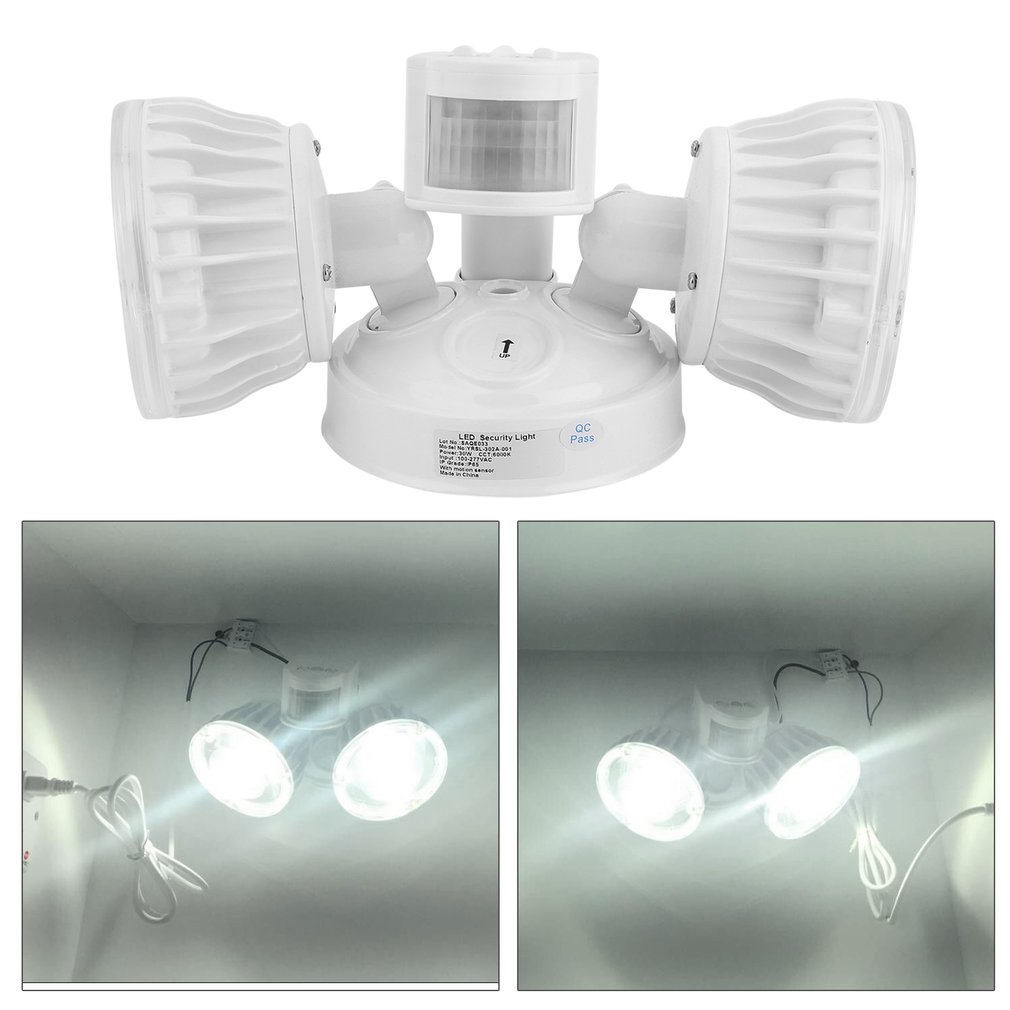 super bright 30w led security flood light outdoor sensor and motion detector lamp dual head lamp - Motion Sensor Outdoor Light