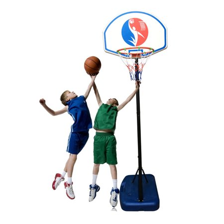Ktaxon Basketball Goal 4.9-5.9ft Adjustable Height, Portable Kids Basketball Hoop System Stand with Net, Backboard, for Indoor / Outdoor (Air Jordan 1 Shattered Backboard For Sale)