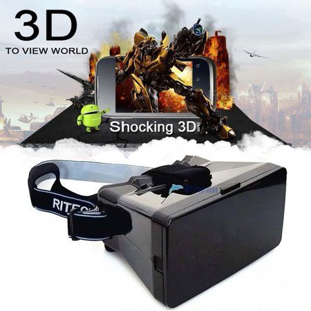 Virtual Reality 3D Headset Glasses   Play Your Best Mobile Games   360 Movies With Soft   Comfortable New 3D Goggles Plus Special Adjustable Eye System