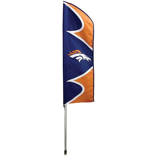 "NFL Denver Broncos 42"" x 13"" Swooper Flag and 6' Pole"