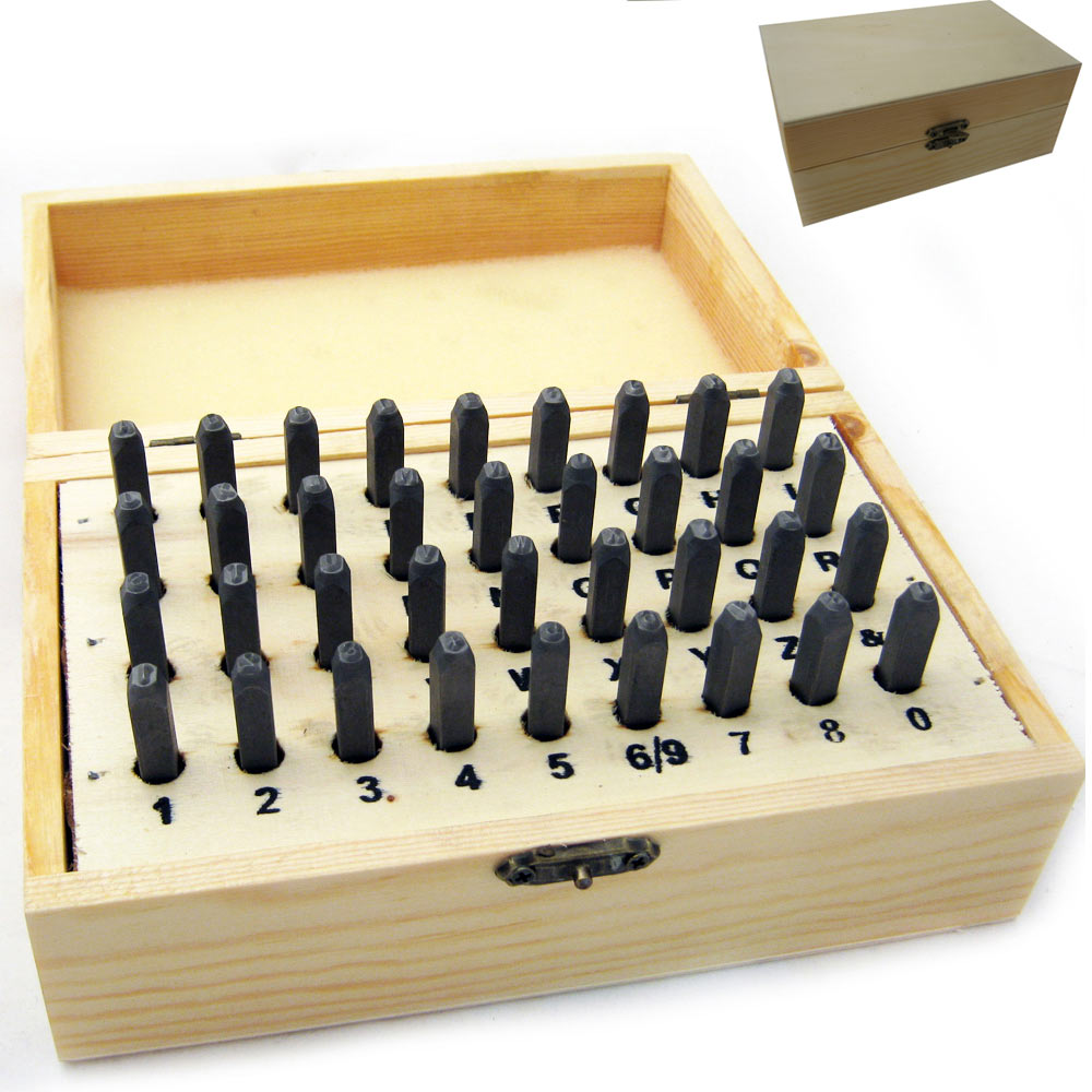 36 PC Number Letter Punch 3MM Set Stamp Metal Steel Stamping Alphabet Tool New ! by HAWK IMPORTERS