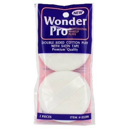 Wonder Pro Double Sided Cotton Puff With Satin Tape - 2