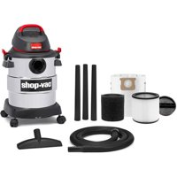 hop-Vac, 6 Gallon 4.5 Peak HP Stainless Steel wet/dry vac
