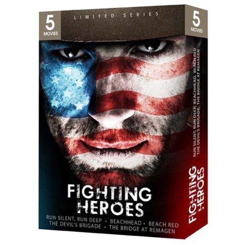 Fighting Heroes: Run Silent, Run Deep / Beach Red / Beachhead / The Devil's Brigade / The Bridge At Remagen (Full Frame)