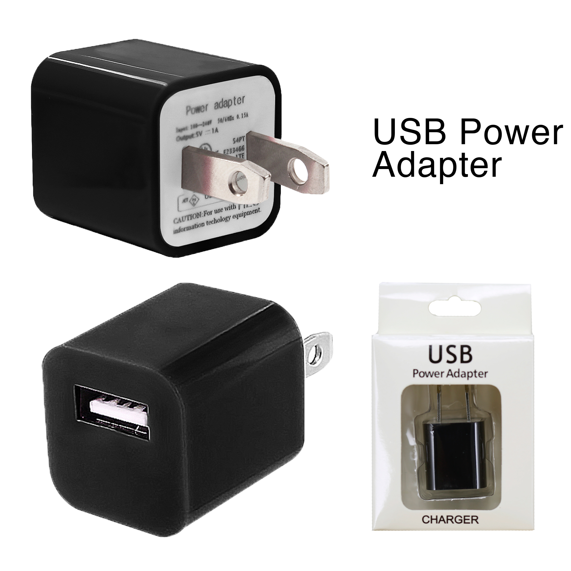 Home Adapter for iPhone X/8/7/6/5/4 - Black